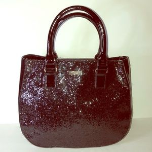 Kate Spade Black Patent Leather Glitter Satchel